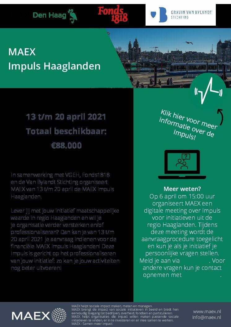 2021: MAEX Impuls Haaglanden