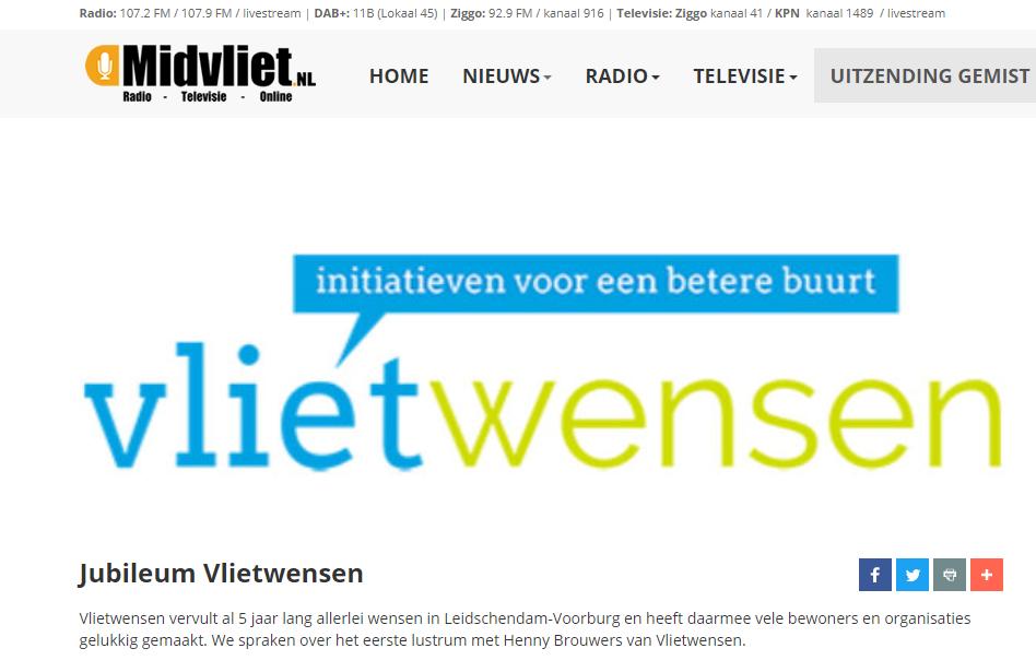 2021: Jubileum Vlietwensen op Midvliet radio
